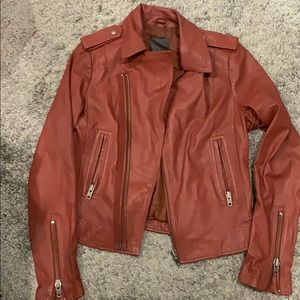 """Joie """"Ailey"""" Leather Motorcycle Jacket"""